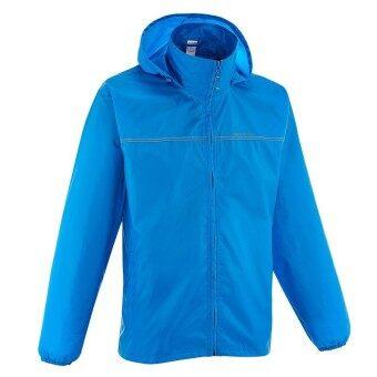 สนใจซื้อ HewtierShop เสื้อแจ็คเก็ตเดินป่ากันฝนสำหรับผู้ชายแบบมีซิปรุ่นRAIN-CUT (สีน้ำเงิน)