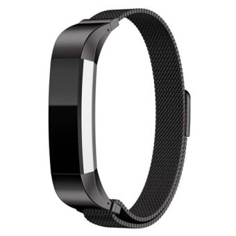 Harga High Quality Brand Luxury Genuine Magnetic suction MilaneseStrapWatch Band Excellent Wrist Strap For Fitbit Alta Tracker Black- intl