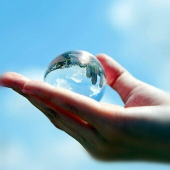 HLL 8Cm Transparent Crystal Ball Photography Camera Magic Acrobaticsperformance Props Feng Shui Ball Home Office Ornamen - intl
