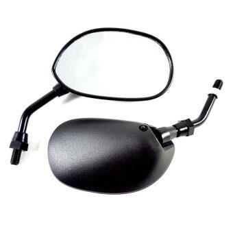 HMA กระจกมองข้าง ย่อขาสั้น HONDA สำหรับรถจักรยานยนต์ หรือมอเตอร์ไซค์ (สีดำ ขาดำ)