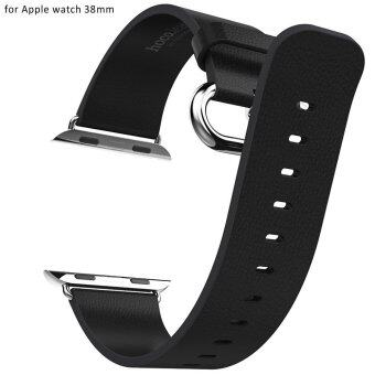 Hoco Luxurious Band Genuine Leather Watchband for Apple Watch 38mm (BLACK)