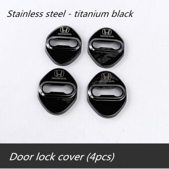 Honda Chrome feel lock protective cover ,Honda city 、jazz 、BRV 、 civic, Honda accord、 CRV 、HR - V (Black titanium 4pcs) - intl