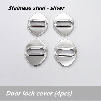 Honda Chrome feel lock protective cover ,Honda city 、jazz 、BRV 、 civic, Honda accord、 CRV 、HR - V (silver 4pcs) - intl