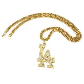 Harga HOT Alloy tide hip-hop necklace pendant original US street jewelry quality thick gold plating - intl
