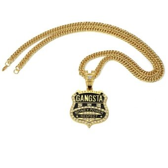 HOT Gangster Band Pendant Necklace Hip-Hop Hip-Hop Rider Singers Necklace jewelry - intl