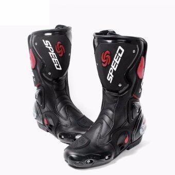 Hot Sale 40 Size Motorcycle PRO Sportbike Race Boots Black - intl