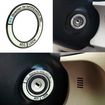 ปิดสวิตช์กุญแจรถยานยนต์อุปกรณ์ส่อง Noctilucence สำหรับ 2557 Corolla Levin สีดำ
