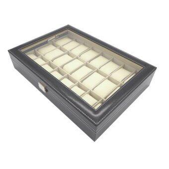 กล่องเก็บนาฬิกา กล่องนาฬิกาไม้บุหนัง กล่องนาฬิกา สำหรับเก็บ นาฬิกา 24 เรือน