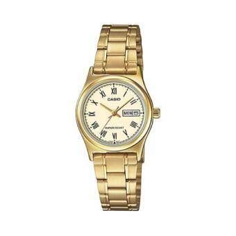 Casio Standard นาฬิกาข้อมือผู้หญิง สายแสตนเลส รุ่น LTP-V006G-9BUDF (Gold)