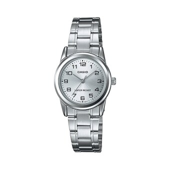Casio standard Lady นาฬิกาข้อมือผู้หญิง สีเงิน สายสแตนเลส รุ่น LTP-V001D-7BUDF