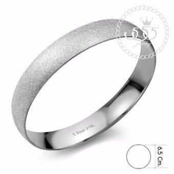 555jewelry กำไลสำหรับสุภาพบุรุษและสุภาพสตรี รุ่น FSBG22-1 (สี Steel)