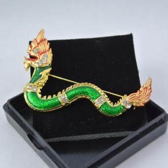 Pearl Jewelry เข็มกลัด พญานาค Pin09 งานไทย