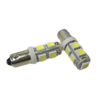 LED หลอดไฟ SMD 9 ดวง ขั้ว BA9S 1 คู่ ( สีขาว )