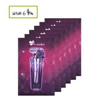 แพค 6 ชิ้น ซองน้ำหอมกำจัดกลิ่นอับในตู้เสื้อผ้า ห้องนอน ในรถ ห้องน้ำ หรือในรองเท้า กลิ่นน้ำหอมฝรั่งเศส