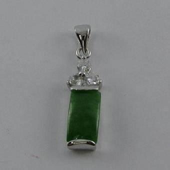 Pearl Jewelry จี้ห้อยคอหยกแท่ง PD15