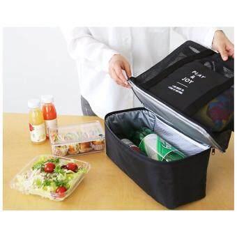 A-shop กระเป๋ากีฬา กระเป๋าถือ กระเป๋าสะพายไหล่ มีช่องเก็บความเย็นรักษาอุณหภูมิ PLAY&JOY0150-Black