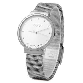 จูเลียสจ๋า-426 นาฬิกาควอทซ์ลีกหญิงสายสเตนเลสถักขาว