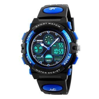 2016 คุณภาพสูง SKMEI 1163 นักกีฬากลางแจ้ง Noctilucent มัลติฟังก์ชั่นนาฬิกากันน้ำอิเล็กทรอนิกส์ (สีน้ำเงิน)