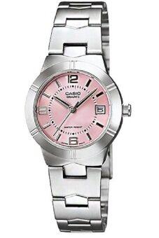 Casio นาฬิกาข้อมือผู้หญิง สายสแตนเลส รุ่น LTP-1241D-4ADF - สีเงิน/ชมพู