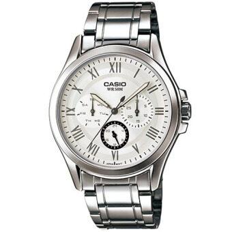 Casio Standard นาฬิกาข้อมือผู้ชาย สีเงิน สายสแตนเลส รุ่น MTP-E301D-7B1VDF