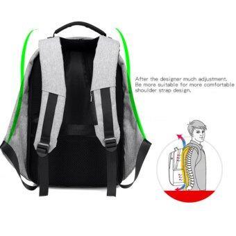 SUN Anti-Theft กระเป๋าเป้นิรภัยแล็ปท็อป Backpack - สีดำ (image 4)