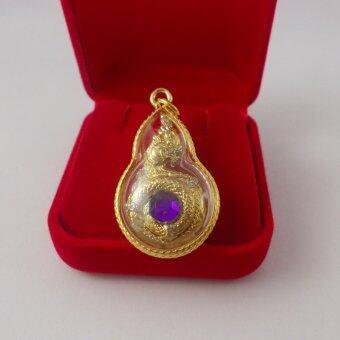 Pearl Jewelry จี้พญานาค 2 กษัตริย์ เพชรสี