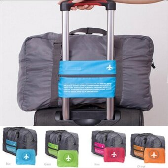 TravelGear24 กระเป๋าเดินทางแบบพับได้ (Orange/ส้ม) ล็อกกับกระเป๋าเดินทางได้ Travel Foldable Bag กระเป๋าพับได้ กระเป๋าเดินทางพับได้ (image 3)