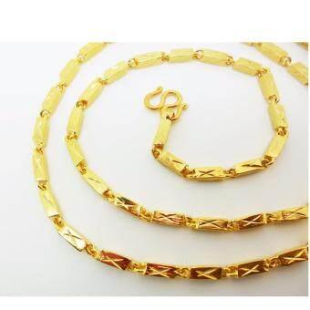 Thai Jewelry สร้อยคอทองคำ งานทองชุบไมครอน ชุบด้วยเศษทองคำแท้ 96.5 % หนัก 1.5 บาท ความยาว 24 นิ้ว