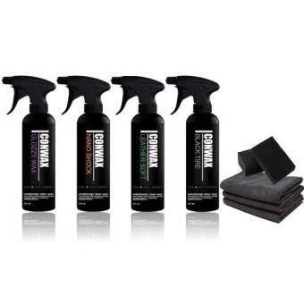 Icon Wax Glozzy Wax Nano Shock Leather Soft Black Tire เซต เสปรย์เคลือบสี และ ยาง และ คอนโซล(...)