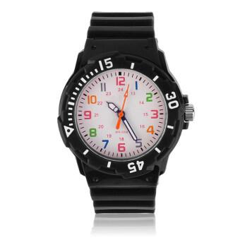 โอ้ SKMEI เด็กสาว Jerry นาฬิกาข้อมือนาฬิกาเด็กนักเรียนซิลิโคนสีดำ