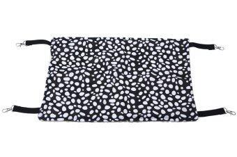 Leegoal กรงสัตว์เลี้ยงแมวคิตตี้ผ้าเปลญวนแขวนเตียง-สีดำ และขาวรูปแบบจุด