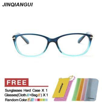 แฟชั่นแว่นตาสี่เหลี่ยมสีน้ำเงินกรอบแว่นตาธรรมดาสำหรับสายตาสั้นสายตาแว่นตากรอบแว่นตาผู้หญิง óculos Femininos Gafas