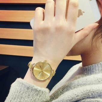 KPshop นาฬิกาผู้หญิงสายหนัง นาฬิกาข้อมือแฟชั่น นาฬิกาสวยๆของผู้หญิง รุ่น LC-004 (สีทอง)