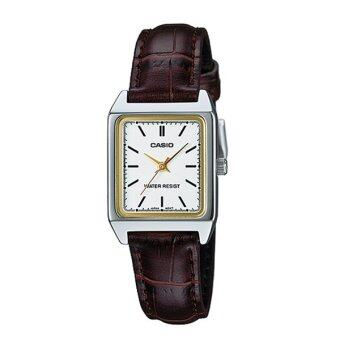 Casio Standard นาฬิกาข้อมือ สายหนัง รุ่น LTP-V007L-7E2UDF - สีน้ำตาล/ขาว
