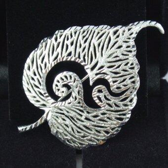 Pearl Jewelry เข็มกลัดเลข 9 ใบโพธิ์เงิน งานช่างไทยคุณภาพดี