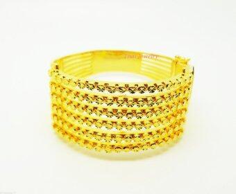 Thai Jewelry กำไลข้อมือทอง งานทองชุบไมครอน ชุบเศษทองคำแท้ 96.5% หนัก 3.5 บาท