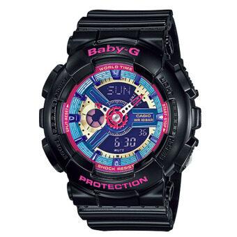 Casio Baby-G นาฬิกาข้อมือผู้หญิง สีดำ สายเรซิ่น รุ่น BA-112-1ADR ประกัน CMG
