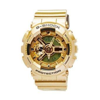 Casio G-Shock นาฬิกาข้อมือผู้ชาย สีทอง สายเรซิ่น รุ่น GA-110GD-9A