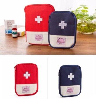 TravelGear24 กระเป๋ายา 2 ใบ แดง กับ น้ำเงิน กระเป๋าเครื่องสำอางค์ กระเป๋าเก็บของ กระเป๋าจัดระเบียบ กระเป๋าในกระเป๋า Medicine Organizer Bag Bag in Bag - Navy and Red