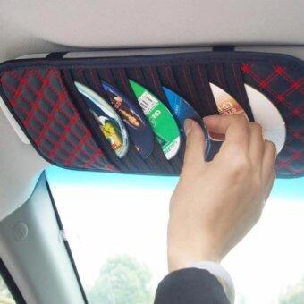 ซองเก็บซีดี ช้องเก็บCD ของแต่งรถ VIP ติดบังแดด (สีแดง).