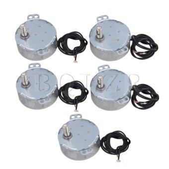 Harga AC220V 15-18RPM Non-Directional Synchronous Motor Set of 5 Silver(Not Specified) - (Intl)