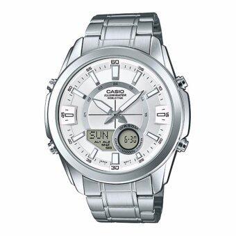 นาฬิกาข้อมือ Casio Standard men สายแสตนเลส รุ่น AMW-810D-7A