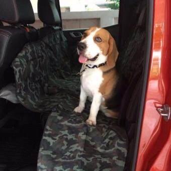 Smartshopping ผ้าคลุมเบาะรถยนต์สำหรับสุนัข (ลายทหาร)