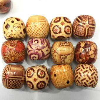 Harga High Quality Store New Hot 100pcs Mixed-color Wood Round Beads for Diy Jewelry Making Loose Spacer 10mm