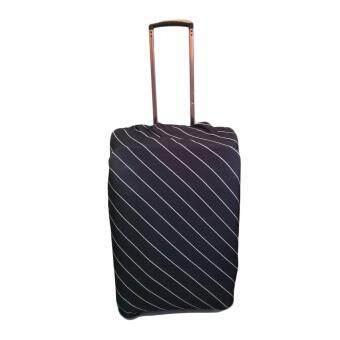 ผ้าคลุมกระเป๋าเดินทางแบบยืดลายเส้น M 22-24'(สีดำ)