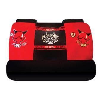 Kid Devil ที่หุ้มเบาะหลังรถยนต์ (รถเก๋ง) Kid Devil 3D (สีดำแดง)