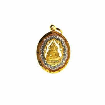 จี้พระพุทธชินราชองค์เล็กเนื้อทองพ่นทราย(Gold)