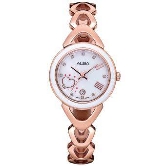 Alba Special Edition นาฬิกาข้อมือผู้หญิง สายสแตนเลส รุ่น AH7L38X1 (แถมกำไรข้อมือ)