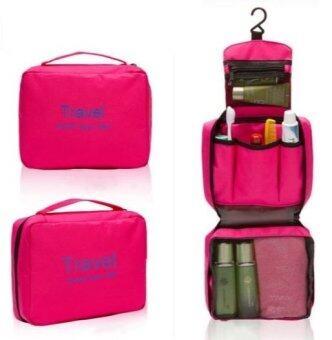 TravelGear24 กระเป๋าจัดระเบียบอุปกรณ์อาบน้ำและเครื่องสำอาง Travel Toiletry Bag (Pink/ชมพู)