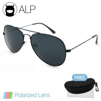 มาใหม่ ALP Polarized Sunglasses แว่นกันแดด Aviator Style รุ่น ALP-3025-BKT-BKP (Black/Black) แนะนำ